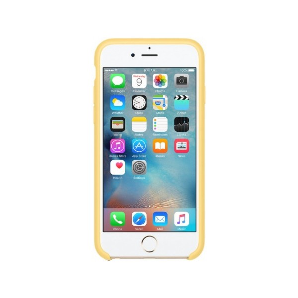 Чехол Silicone Case iPhone 6/6s желтый (c)