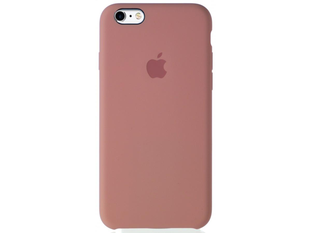 Чехол Silicone Case качество Lux для iPhone 6/6S бледно-розовый в Тюмени