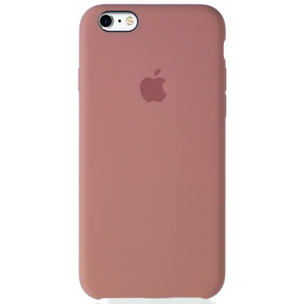 Чехол Silicone Case качество Lux для iPhone 6/6S бледно-розовый