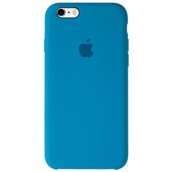Чехол Silicone Case для iPhone 6/6s голубой