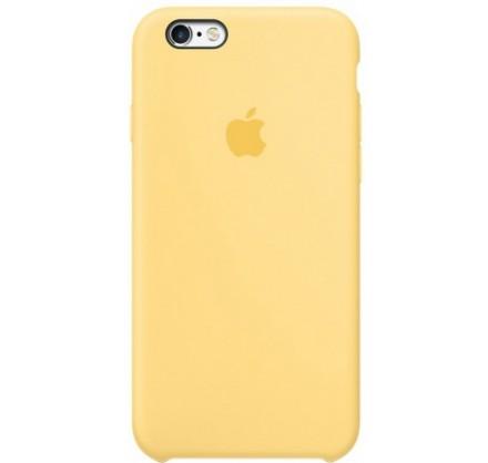 Чехол Silicone Case iPhone 6/6s желтый (c)