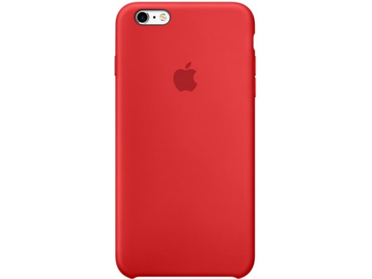 Чехол Silicone Case iPhone 6/6s красный (c) в Тюмени
