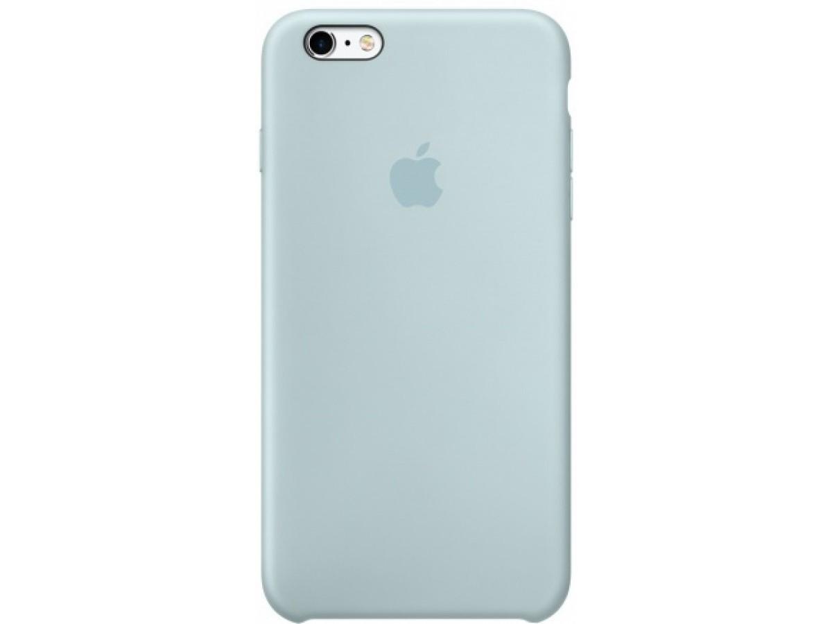 Чехол Silicone Case iPhone 6/6s бирюзовый (c) в Тюмени