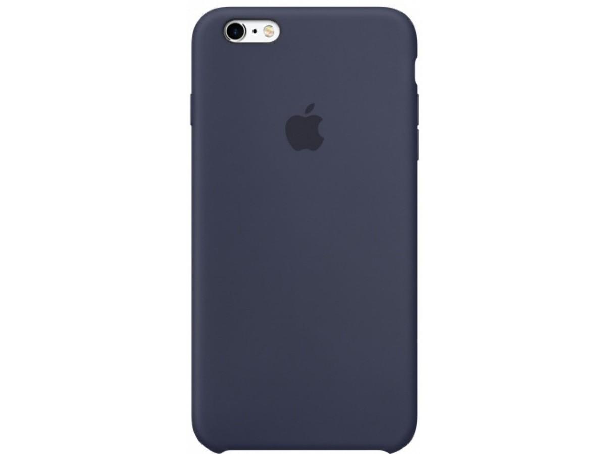 Чехол Silicone Case для iPhone 6/6s темно-синий в Тюмени