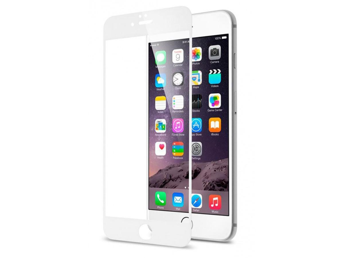Стекло защитное iPhone 6 Plus/6s Plus (3D) белое в Тюмени