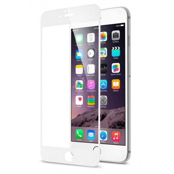 Стекло защитное iPhone 6 Plus/6s Plus (3D) белое