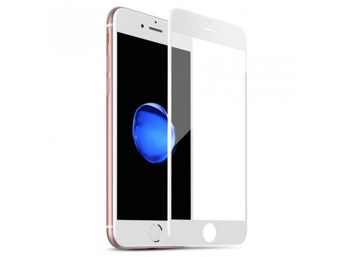 Стекло защитное iPhone 7/8/SE 2020 (3D) белое в Тюмени
