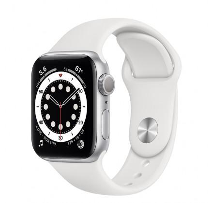 Apple Watch Series 6, 40 мм, корпус из алюминия серебри...