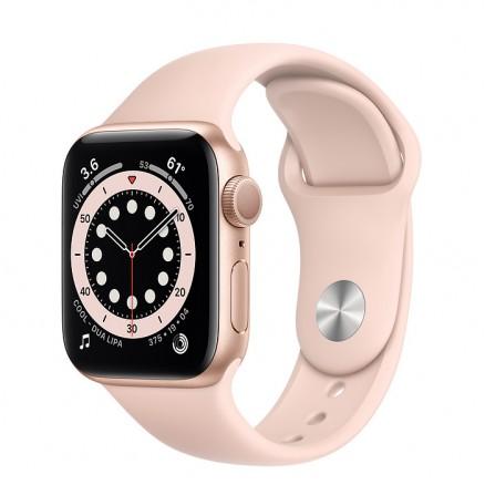 Apple Watch Series 6, 40 мм, корпус из алюминия золотог...