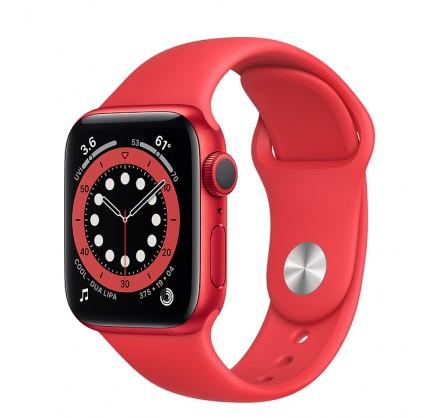 Apple Watch Series 6, 40 мм, корпус из алюминия красног...