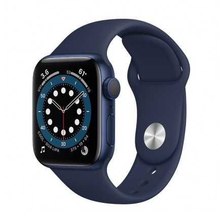 Apple Watch Series 6, 40 мм, корпус из алюминия синего ...