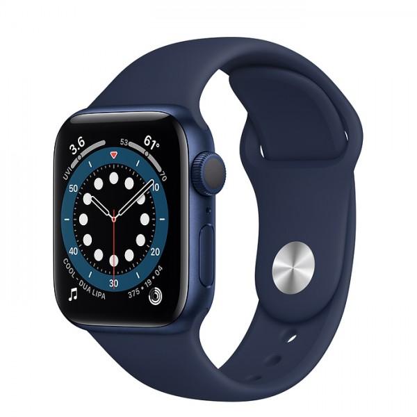 Apple Watch Series 6, 40 мм, корпус из алюминия синего цвета, спортивный ремешок цвета (темный ультрамарин)