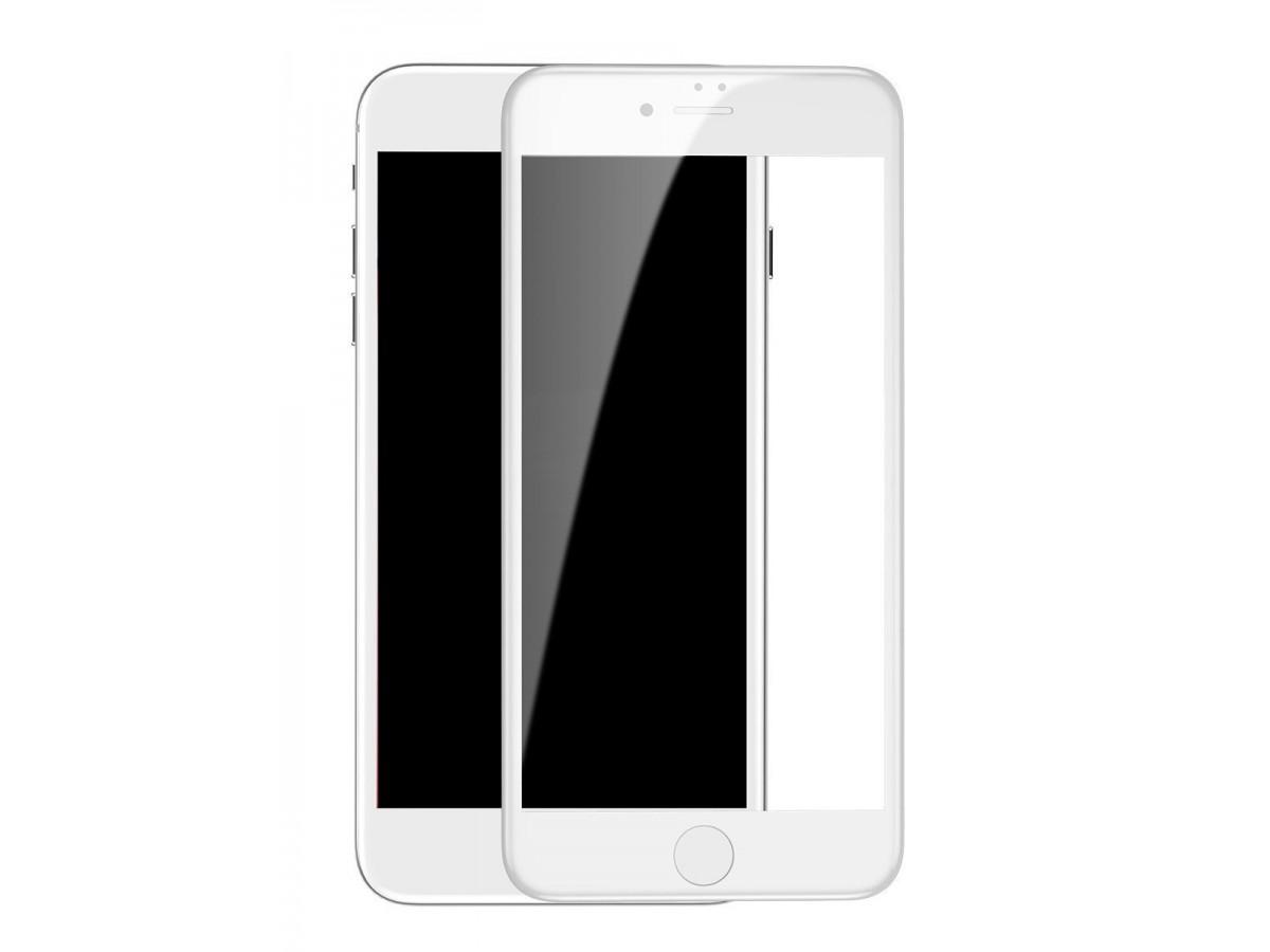 Стекло защитное iPhone 7 Plus/8 Plus (3D) Baseus белое в Тюмени