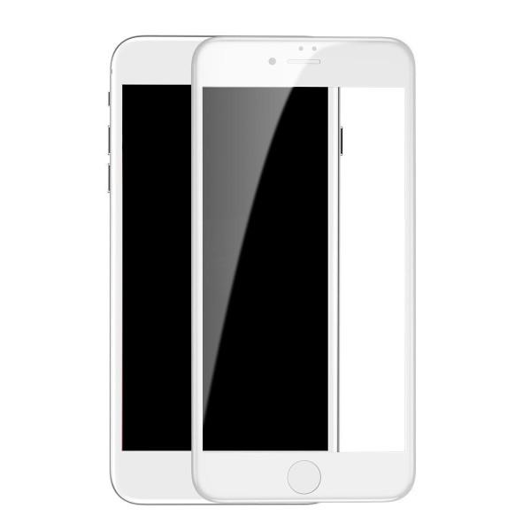 Стекло защитное iPhone 7 Plus/8 Plus (3D) Baseus белое