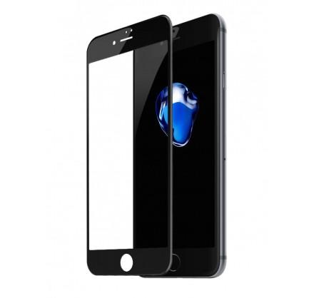 Стекло защитное iPhone 7 Plus/8 Plus (3D) Baseus черное