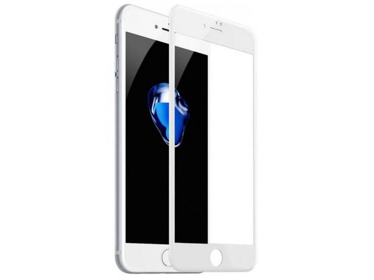 Стекло защитное iPhone 7 Plus/8 Plus (3D) белое в Тюмени
