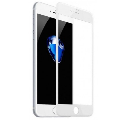 Стекло защитное iPhone 7 Plus/8 Plus (3D) белое