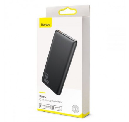Power Bank Baseus 10000mAh 18w (черный/белый)