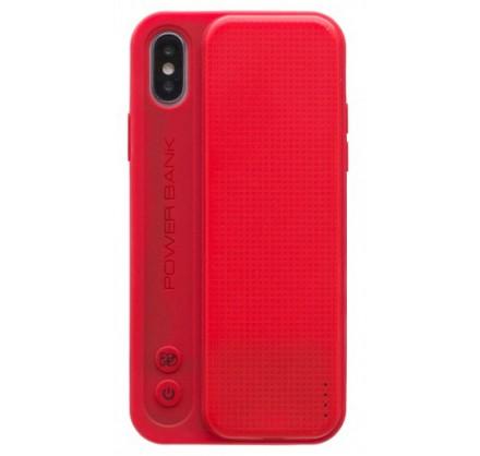 Беспроводной чехол-зарядка Proda для iPhone X красная