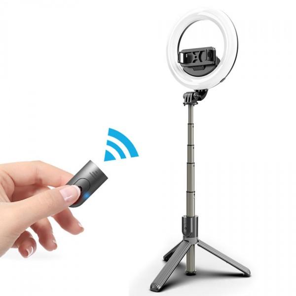 Кольцевая лампа монопод Selfie Stick Tripod L07
