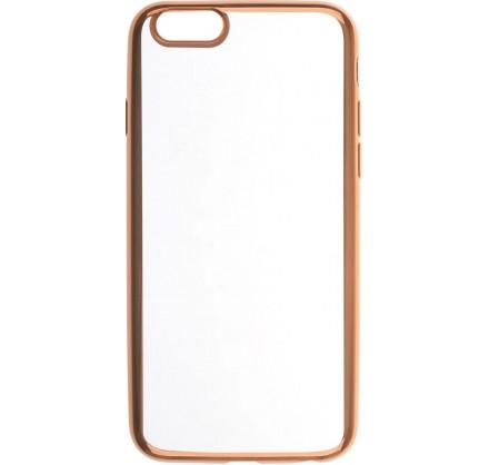 Чехол прозрачный для iPhone 6/6s силиконовый хром золот...