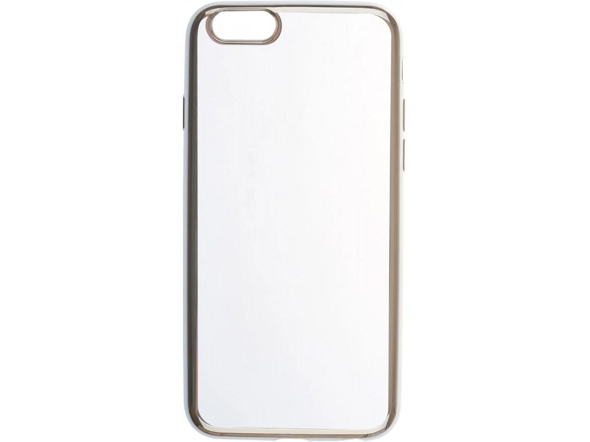 Чехол прозрачный для iPhone 6/6s силиконовый хром серебристый в Тюмени