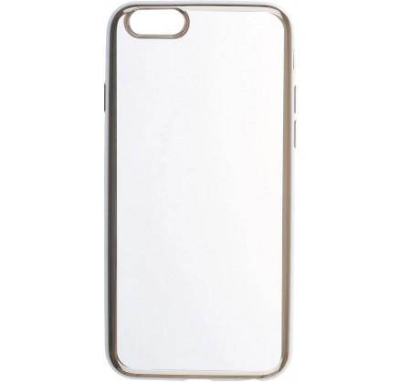 Чехол прозрачный для iPhone 6/6s силиконовый хром сереб...
