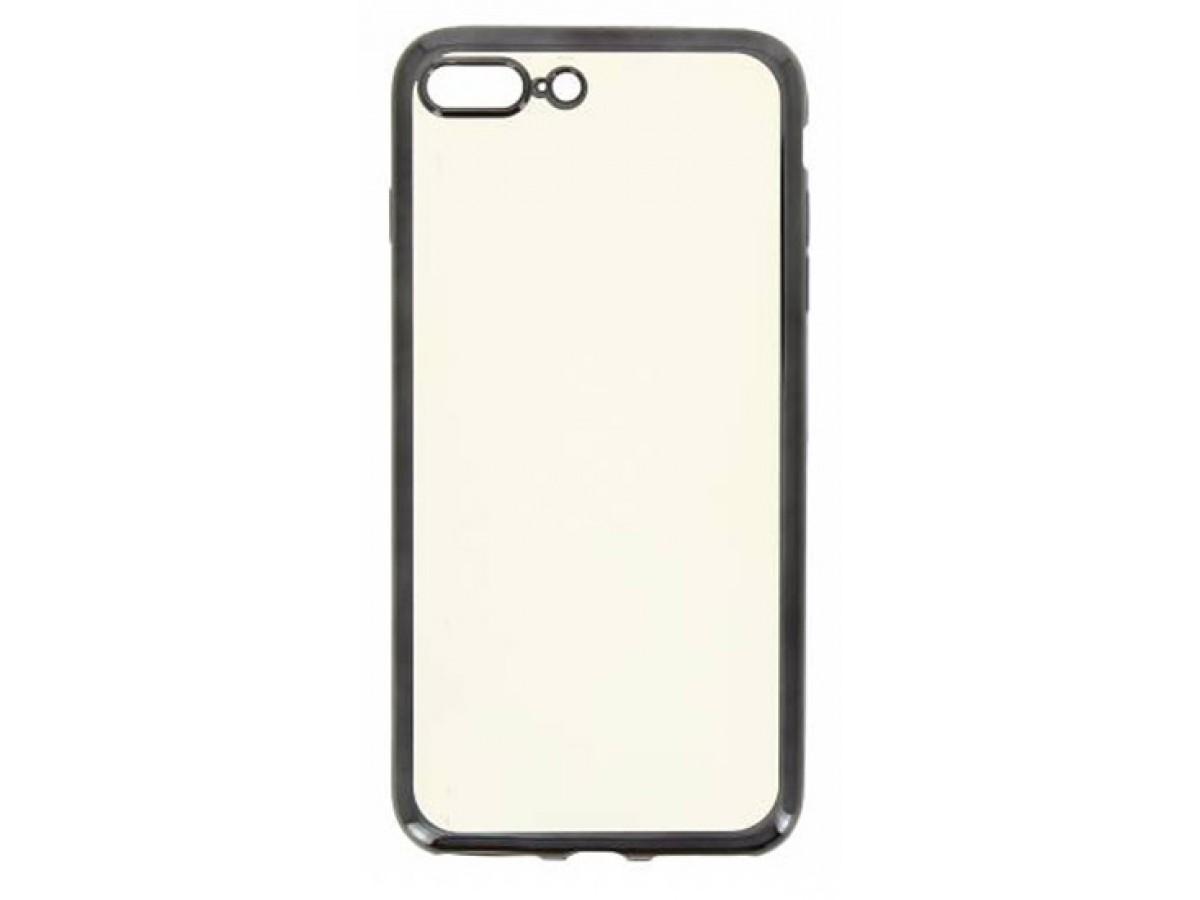 Чехол прозрачный для iPhone 7 Plus/8 Plus силиконовый хром черный в Тюмени