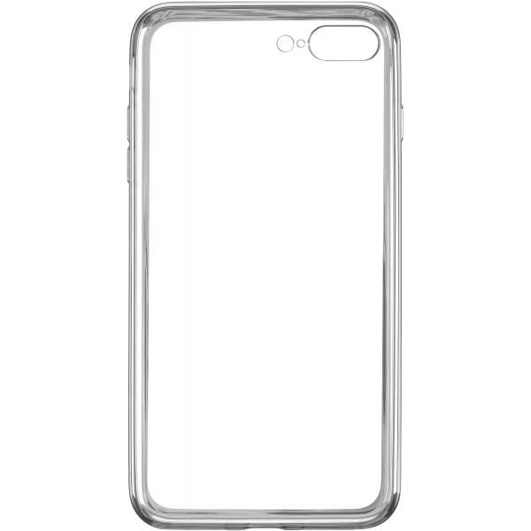 Чехол прозрачный для iPhone 7 Plus/8 Plus силиконовый хром серебристый