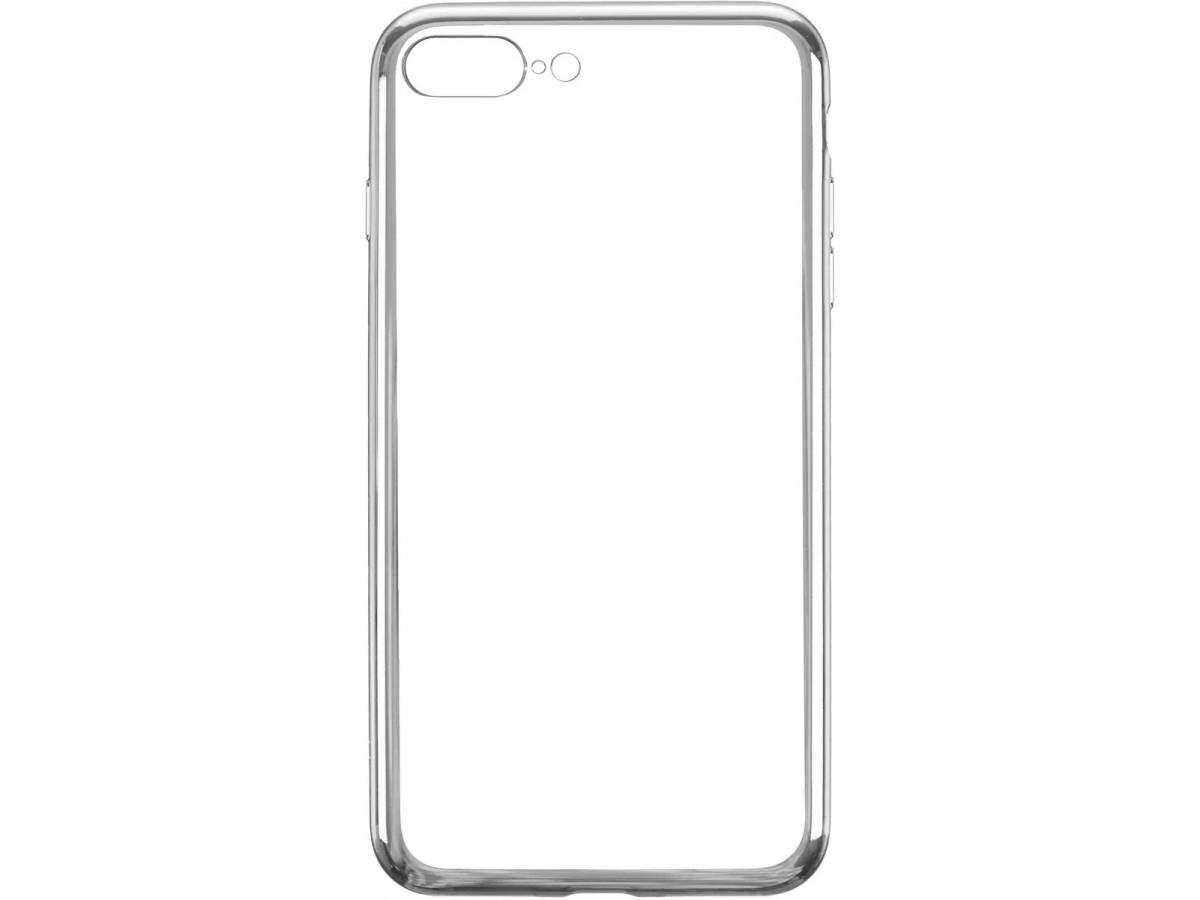 Чехол прозрачный для iPhone 7 Plus/8 Plus силиконовый хром серебристый в Тюмени