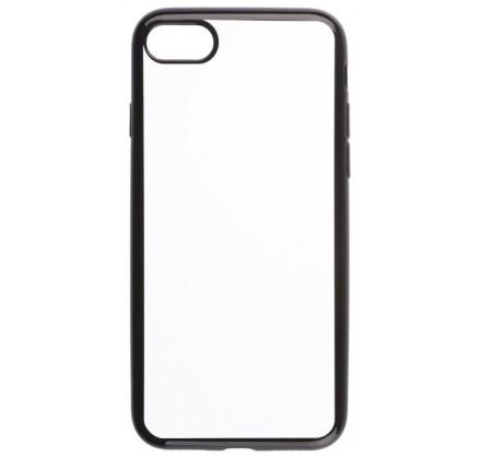 Чехол прозрачный для iPhone 7/8 силиконовый хром черный