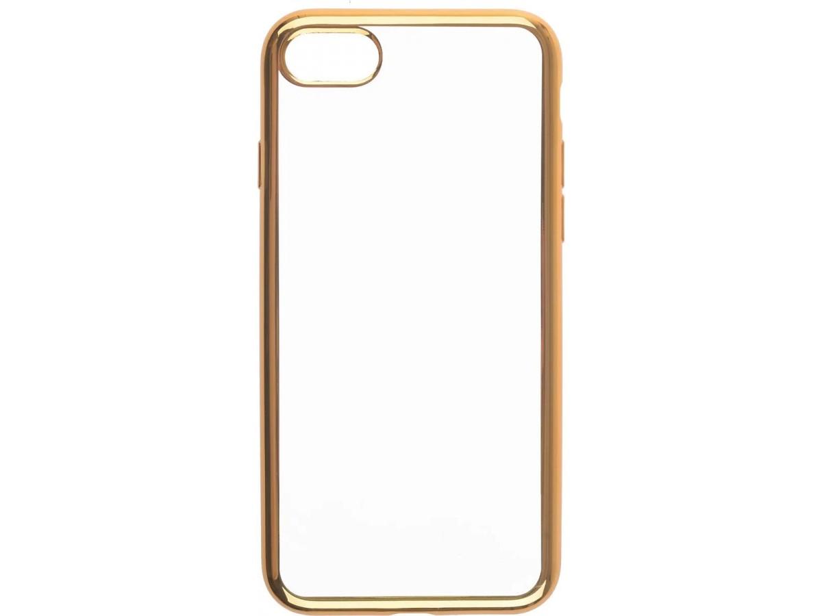 Чехол прозрачный для iPhone 7/8 силиконовый хром золотой в Тюмени