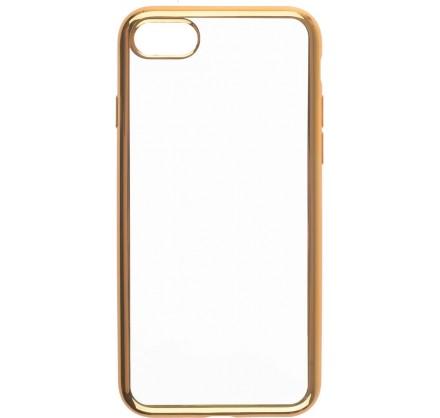 Чехол прозрачный для iPhone 7/8 силиконовый хром золото...
