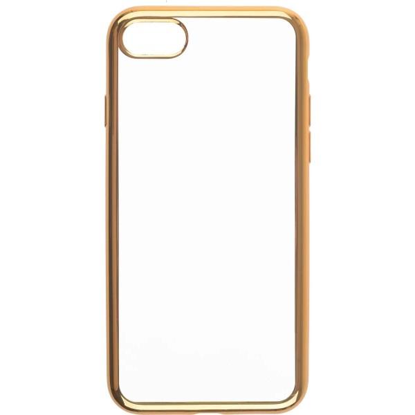 Чехол прозрачный для iPhone 7/8 силиконовый хром золотой