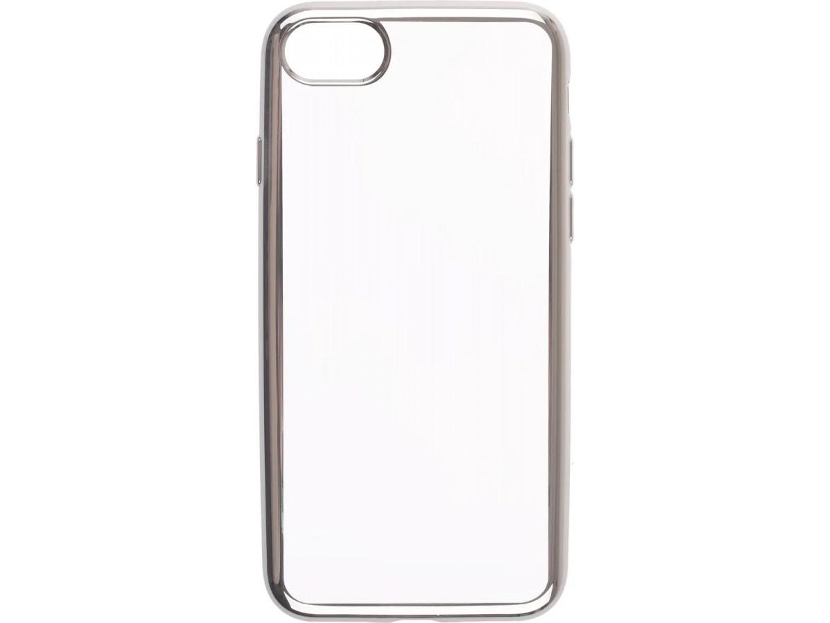 Чехол прозрачный для iPhone 7/8 силиконовый хром серебристый в Тюмени
