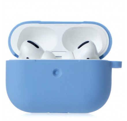 Чехол AirPods Pro Soft-touch голубой