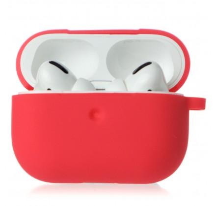Чехол AirPods Pro Soft-touch красный