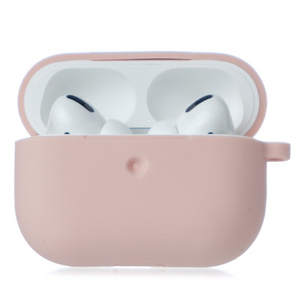 Чехол AirPods Pro Soft-touch светло-розовый