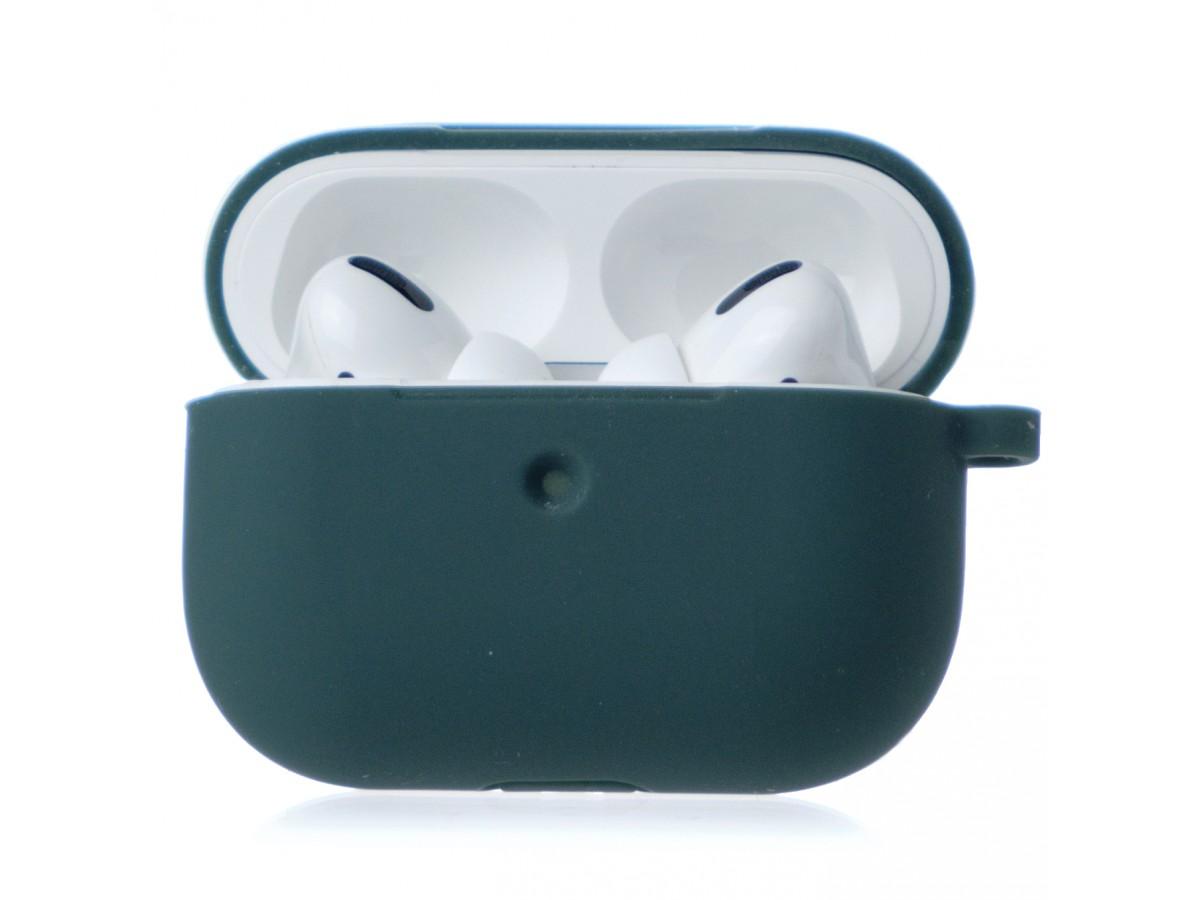 Чехол AirPods Pro Soft-touch темно-зеленый в Тюмени
