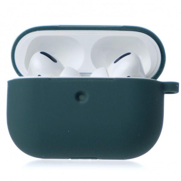 Чехол AirPods Pro Soft-touch темно-зеленый