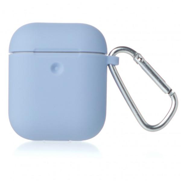 Чехол AirPods Soft-touch светло голубой