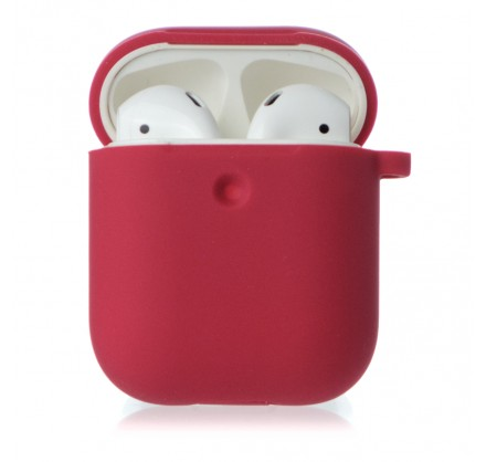 Чехол AirPods Soft-touch бордовый