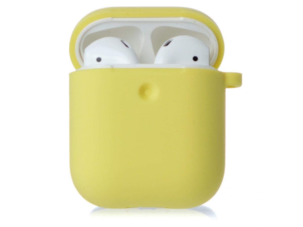 Чехол AirPods Soft-touch желтый в Тюмени