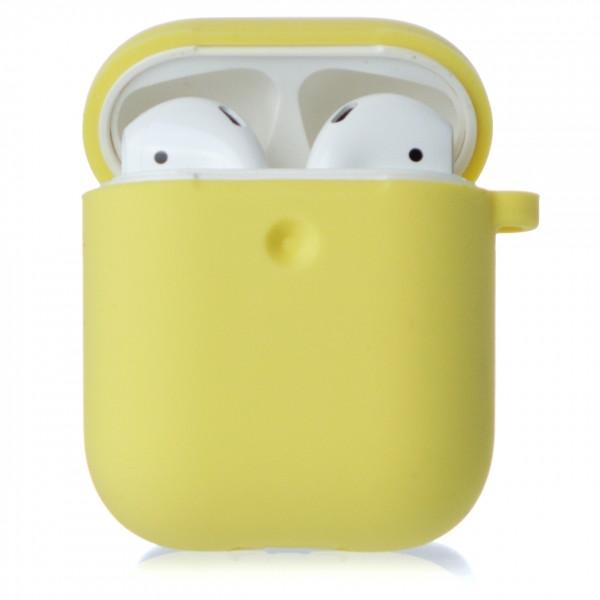Чехол AirPods Soft-touch желтый
