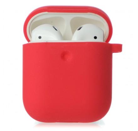 Чехол AirPods Soft-touch красный