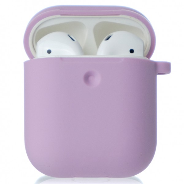 Чехол AirPods Soft-touch сиреневый