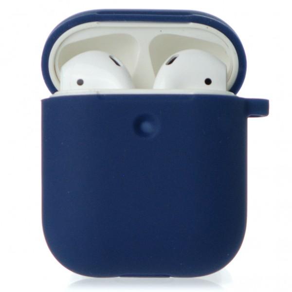 Чехол AirPods Soft-touch темно-синий
