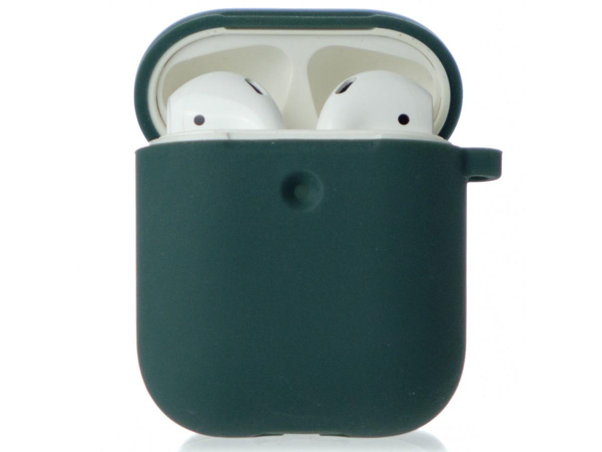 Чехол AirPods Soft-touch темно-зеленый в Тюмени