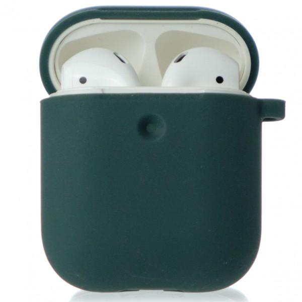 Чехол AirPods Soft-touch темно-зеленый