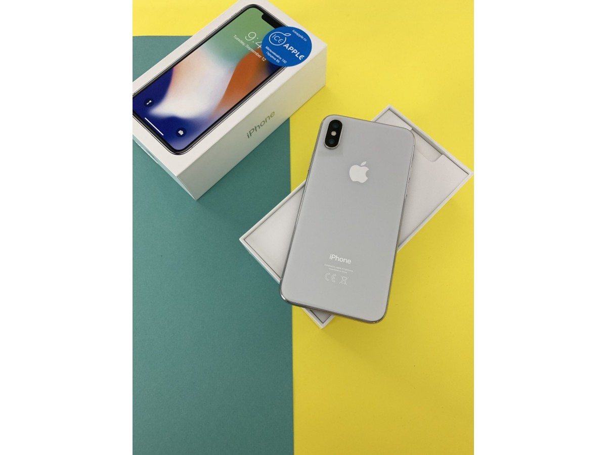 Apple iPhone X 64gb Silver в Тюмени